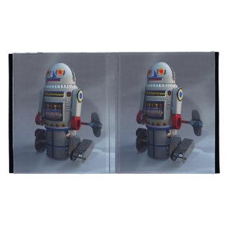 Retro Toy Robot Number 7 Caseable Case iPad Folio Covers