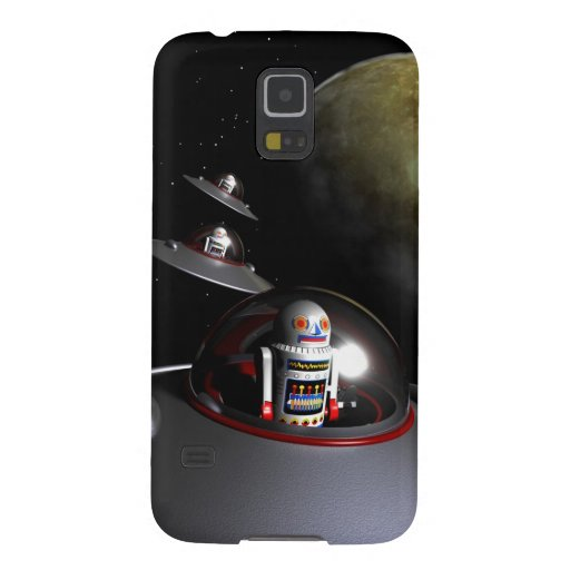 Retro Toy Robot Number 7 Galaxy S5 Cases