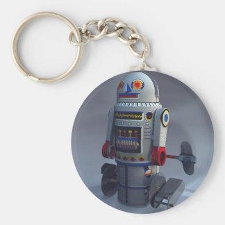 Retro Toy Robot Number 7 Keychain