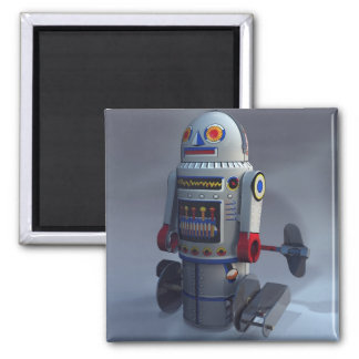 Retro Toy Robot Number 7 Magnet