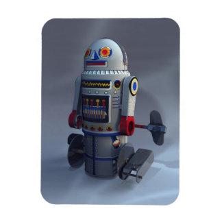 Retro Toy Robot Number 7 Premium Flexi Magnet