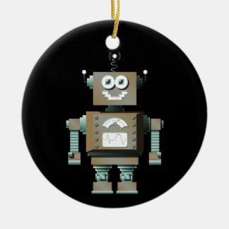 Retro Toy Robot Ornament (dk)