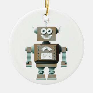 Retro Toy Robot Ornament (inverse)