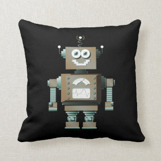 Retro Toy Robot Pillow (dk)
