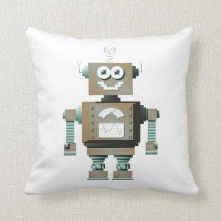 Retro Toy Robot Pillow (inverse)