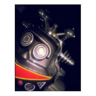 Retro Toy Robot Postcard