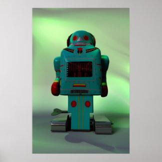 Retro Toy Robot Print