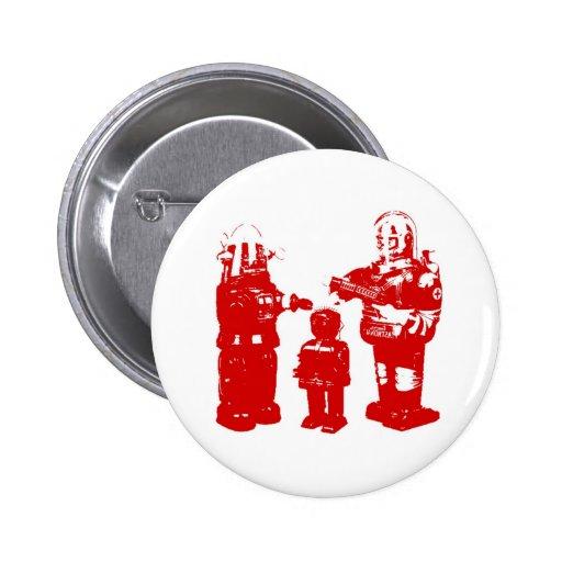 Retro Toy Robots 2 Inch Round Button