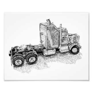 Retro toy Tractor Rig/Mobile Defence Unit Photograph