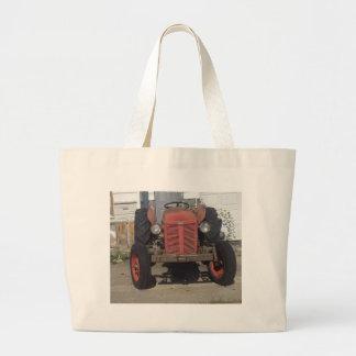 Retro Tractor Large Tote Bag