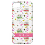 Retro Trailer & Flamingos Pattern iPhone 5 Case