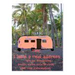Retro Trailer Hawaiian Palm Tree New Home Postcards