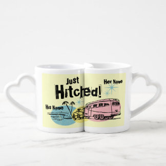 Retro Trailer Just Hitched Lovers Mug
