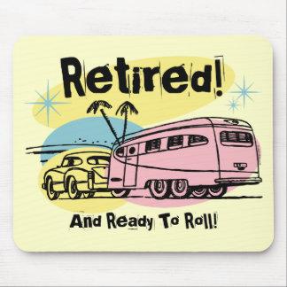 Retro Trailer Retired Mousepad