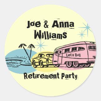 Retro Trailer Retired Personalized Sticker