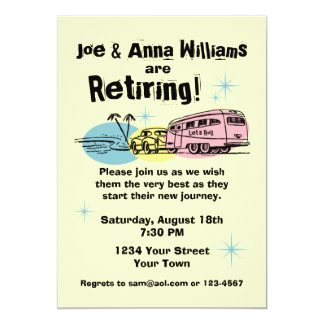 Retro Trailer Retirement Party Invitation