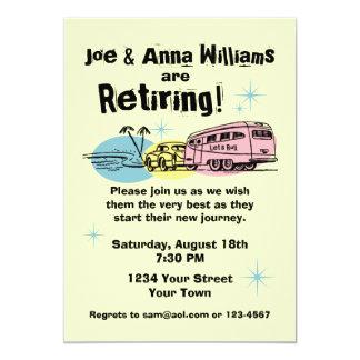 """Retro Trailer Retirement Party Invitation 5"""" X 7"""" Invitation Card"""
