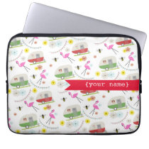 Retro Trailers Personalized Electronics Bag