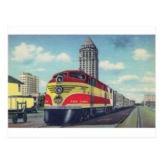 Retro Train The Champion Miami Railways Postcard