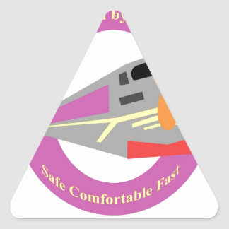 Retro Train Travel Triangle Sticker