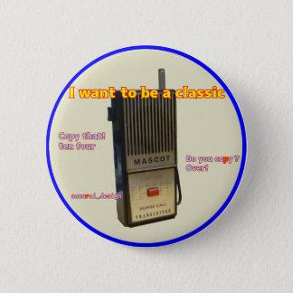 Retro transceiver pinback button