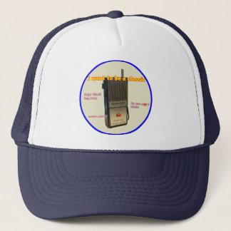 Retro transceiver trucker hat