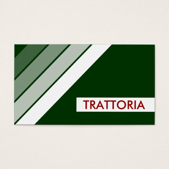 retro TRATTORIA Business Card