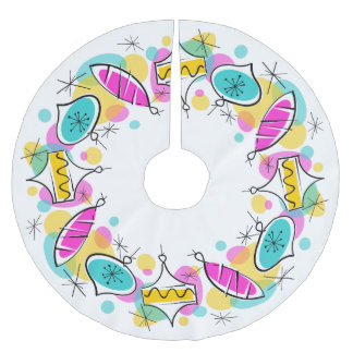 Retro Tree Baubles Circle tree skirt