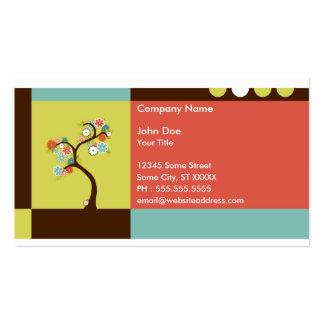 retro tree business cards