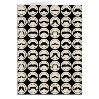 Retro Trendy Handlebar Mustache Greeting Card