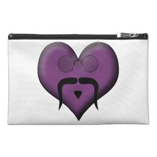 Retro Trendy Mustache Heart Travel Accessories Bag