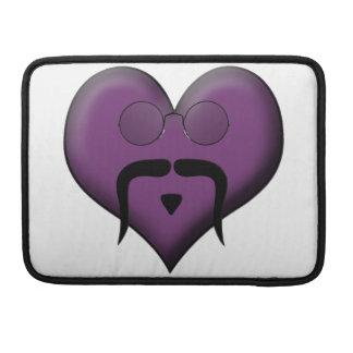 Retro Trendy Mustache Heart Sleeves For MacBooks