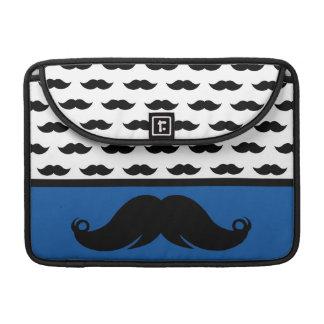 Retro  Trendy Mustache Stache Pattern Sleeves For MacBooks