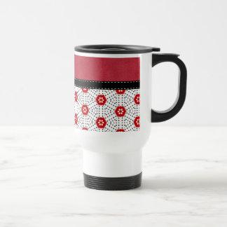 Retro Trendy Red Black & White Abstract Art Mugs