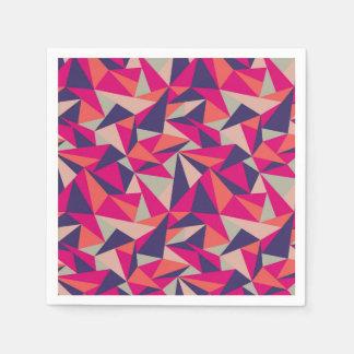 Retro Triangle Geometric Cocktail Paper Napkins