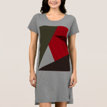 Retro Triangle Pattern T-Shirt Dress