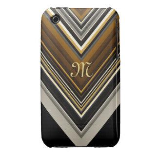 Retro Triangles and custom Monogram Case-Mate iPhone 3 Cases