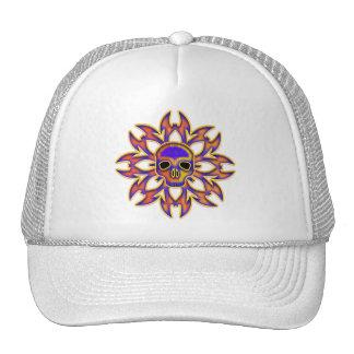 RETRO TRIBAL SKULL TRUCKER HAT