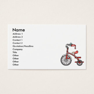 retro tricycle business card