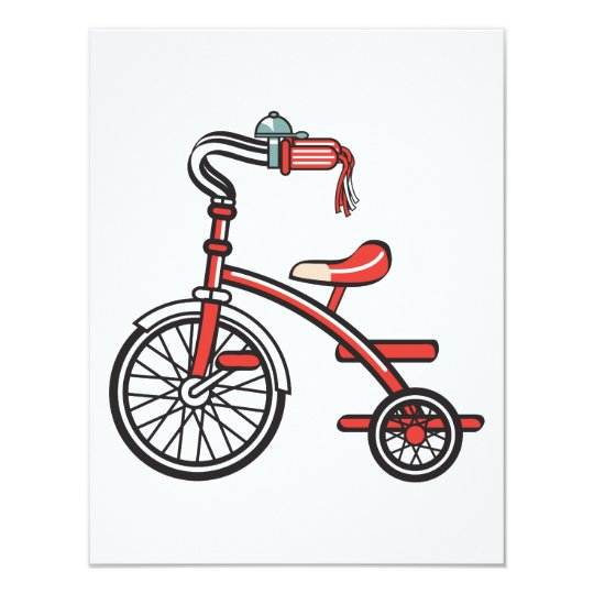 retro tricycle card