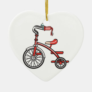 retro tricycle ceramic ornament