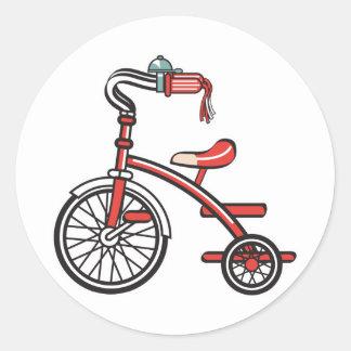 retro tricycle classic round sticker