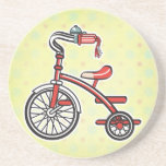 retro tricycle drink coasters