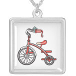 retro tricycle personalized necklace