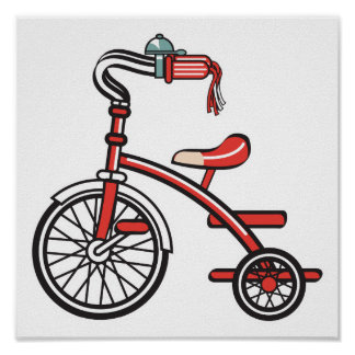 retro tricycle poster