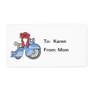 Retro Trike Gift Tag Label