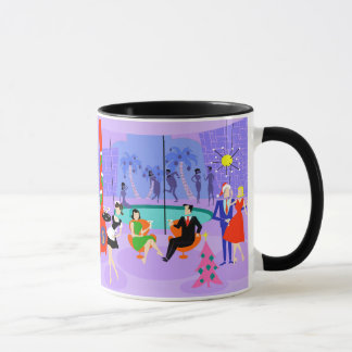 Retro Tropical Christmas Party Mug