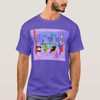 Retro Tropical Christmas Party T-Shirt