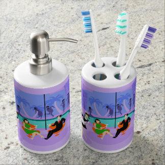 Retro Tropical Cocktail Party Bath Set