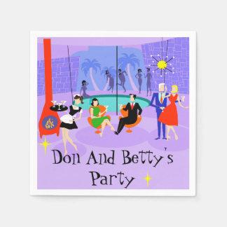 Retro Tropical Cocktail Party Disposable Napkins